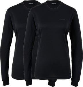 Thermoshirt (2-Pack) schwarz