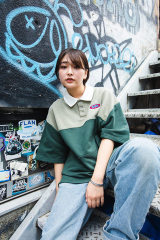 【8/16(sun)21:00- 販売開始 original】9090 Rugger Shirt(green)