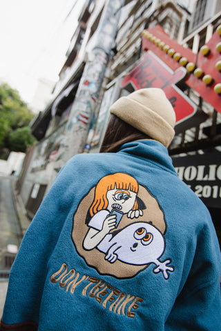 [1/11(月)21:00-]9090 fake ghost fleece(ブルー×ブラウン)【original】
