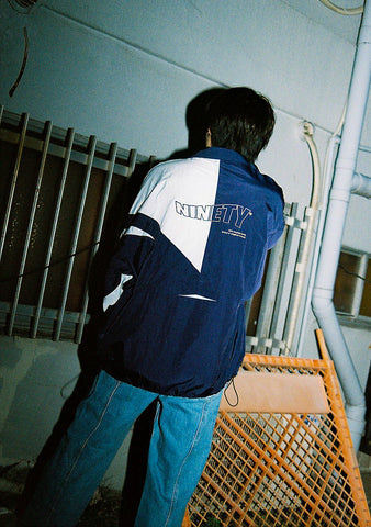 [9/30(水)21:00~受注生産]9090 original nylon jacket(blue)【original】