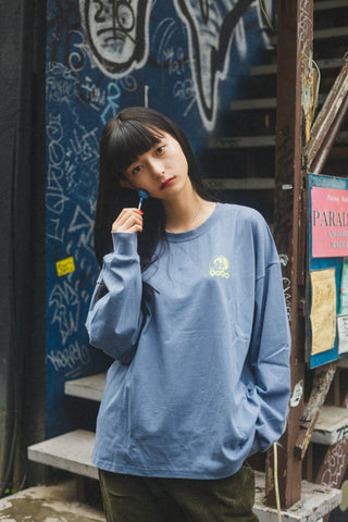 Pretty Girl long T(deep blue)【original】