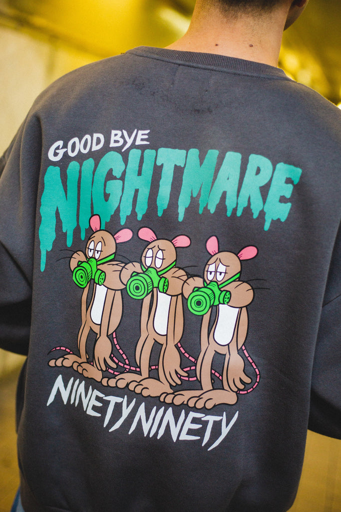 [1/10(日)21:00-受注販売]9090 × yoheymocrock  GOOD BYE NIGHTMARE Sweat(スミ)original】[発送予定:2月中旬~]