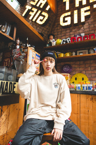 [9/24(木)21:00~受注販売]9090 × minagi  ALWAYS SMILE Sweat(beige)【original】