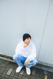 Fake ghost long T(white)【original】