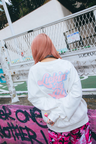 [11/29(日)21:00-受注販売]Lickin' My Life Sweat Strawberry cream flavor(ホワイト)【original】[発送予定:1月上旬]