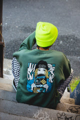 over × 9090 × Hime Skater Girl Sweat(くすみミント)【original】