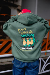 Don't Butter Up Hoodie(くすみミント)【original】