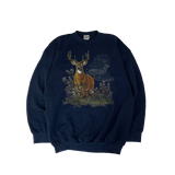TULTEX NAVY DEER SWEAT【used】