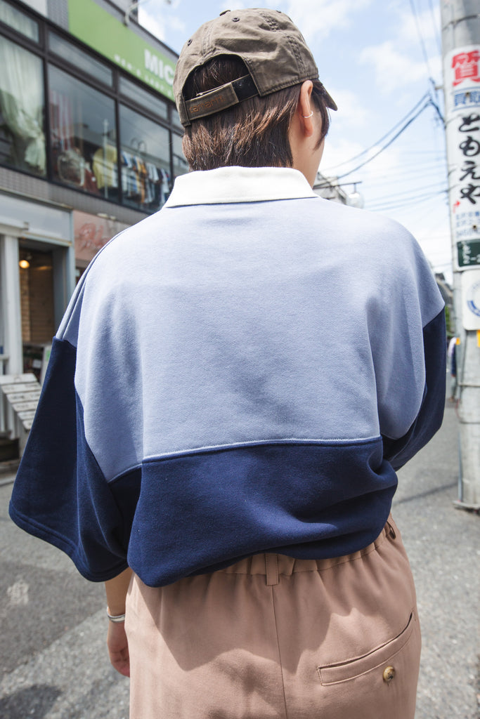 【8/16(sun)21:00- 販売開始 original】9090 Rugger Shirt(blue)