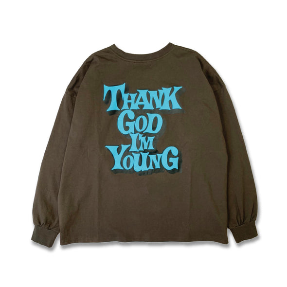 [3/9(火)21:00-]9090 × WIND AND SEA THANK GOD I'M YOUNG long T(チャコール)【original】