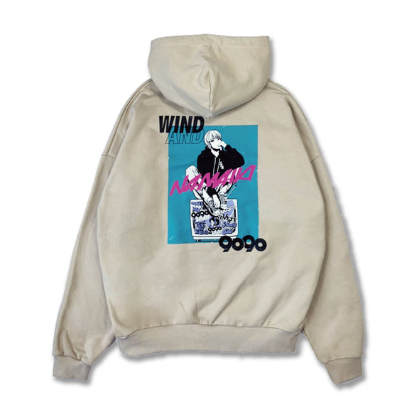 [3/9(火)21:00-]9090 × WIND AND SEA × Hime NAMAIKI GIRL Hoodie(ベージュ)【original】