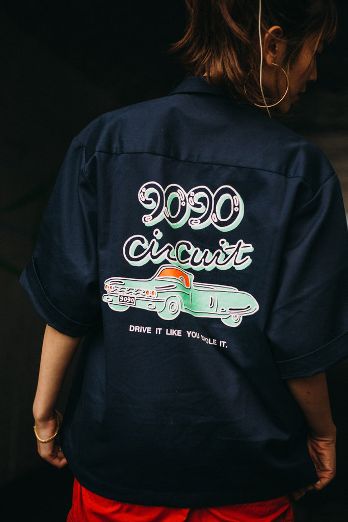 9090×m2n Original Work Shirt(navy)【original】