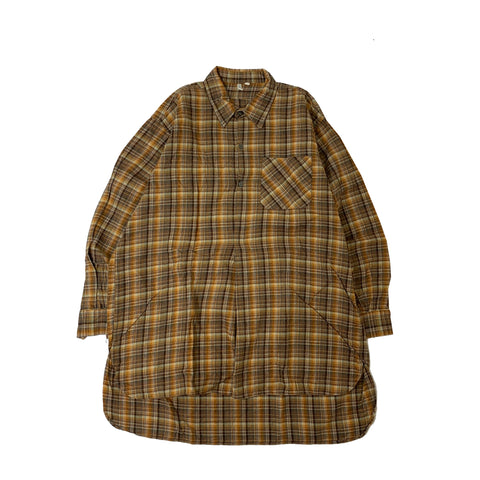 CHECK PULLOVER SHIRT【used】
