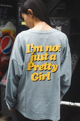 Pretty Girl long T(dull blue)【original】