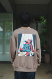 [9/24(木)21:00~受注販売]9090 × ichiraku studio  STAY HOME Sweat yellow-green(greige)【original】
