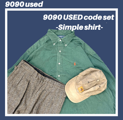【used set】2:Ralph simple shirt code