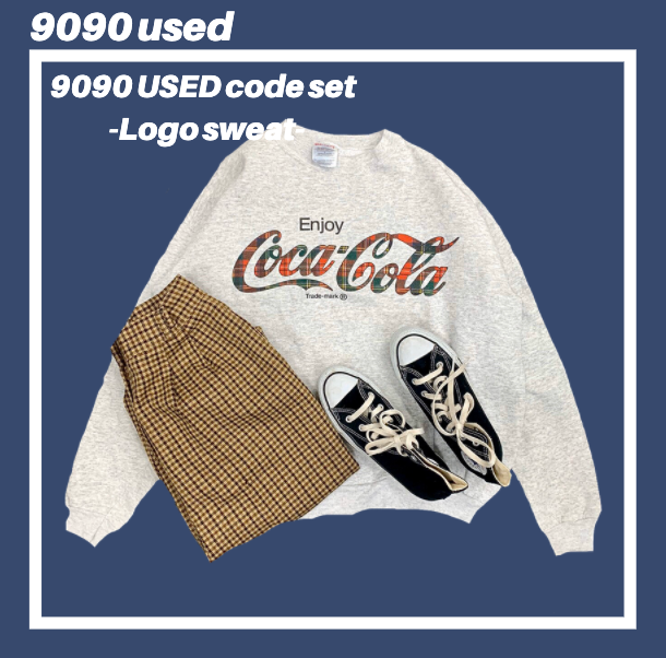 【used set】10:Logo sweat code