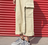 Side pocket cargo pants【select】