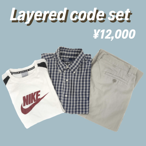 [3点set] layered code set【used】