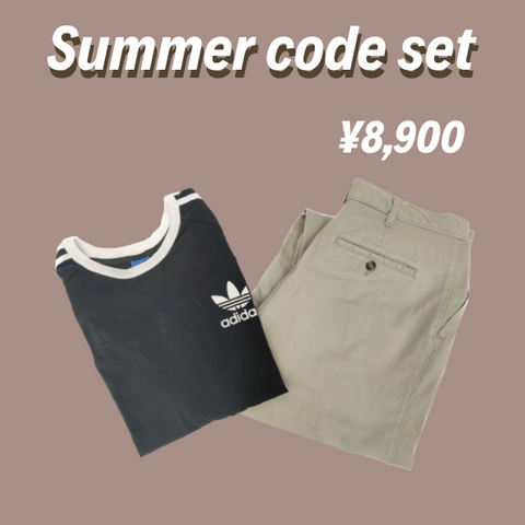 [2点set] summer code set【used】