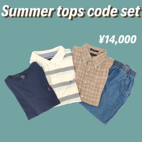 [4点set] summer tops & bottom code set【used】