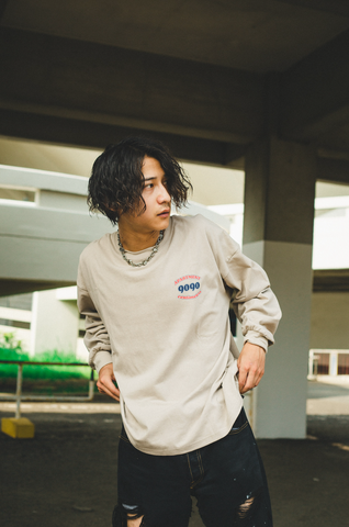 [9/6(Sun)21:00- 受注生産] 9090×CMT×APARTMENT hamburger&rat long T(sand)【original】