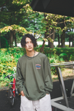 [9/6(Sun)21:00- 受注生産] 9090×CMT×APARTMENT hamburger&rat long T(deep green)【original】