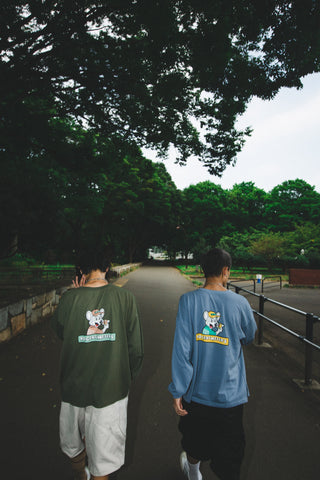 [9/5(Sat)21:00- ] 9090×CMT×APARTMENT hamburger&rat long T(deep blue)【original】