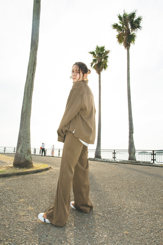 [4/03(土)21:00-]Relax Loose Flared Pants(カーキ)【original】