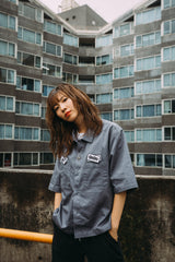 [7/17(Fri)21:00- 受注生産] 9090×m2n Original Work Shirt(dull bule)【original】