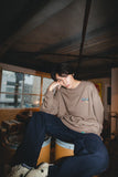 9090 × ichiraku studio STAY HOME Sweat yellow-green(greige)【original】