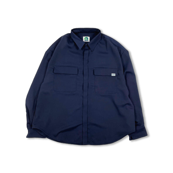 [4/03(土)21:00-]Double Pocket Long Shirt(ネイビー)【original】