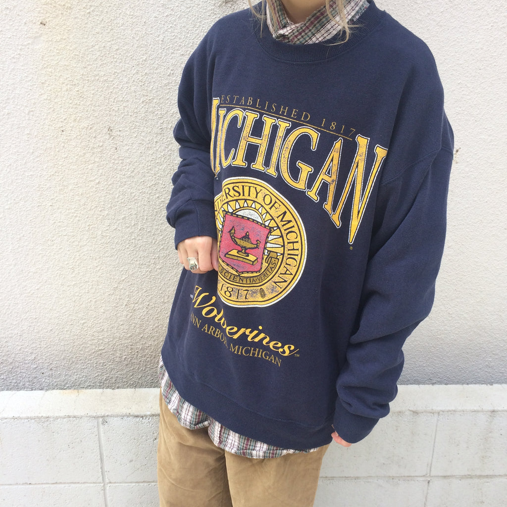 Lee navy sweat【used】