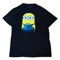 Minion black T【used】