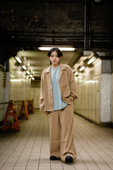 [4/03(土)21:00-]Relax Loose Flared Pants(ベージュ)【original】