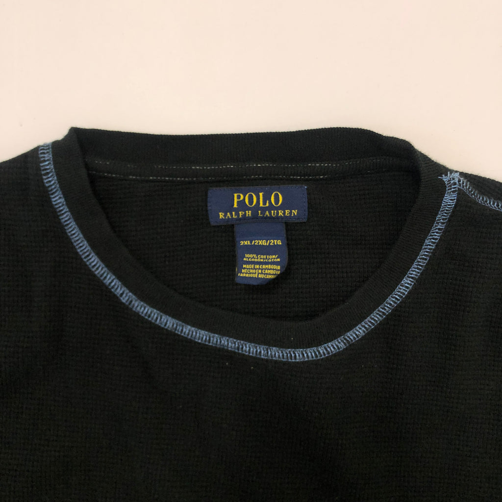 POLO RALPH LAUREN Black Thermal L/S TEE【used】