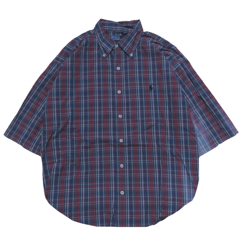 Ralph red check shirts【used】