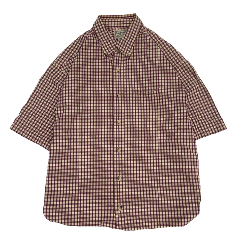 L.L.Bean red check shirts【used】