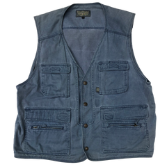 World Island blue vest【used】