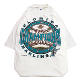 Florida Marlins white T【used】
