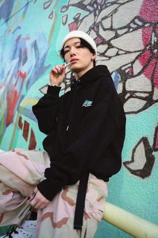 [1/16(土)21:00-]Nah×9090 Zip Your Lips Hoodie(ブラック)【original】