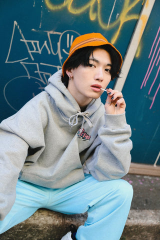 [1/16(土)21:00-]Nah×9090 Zip Your Lips Hoodie(グレー)【original】