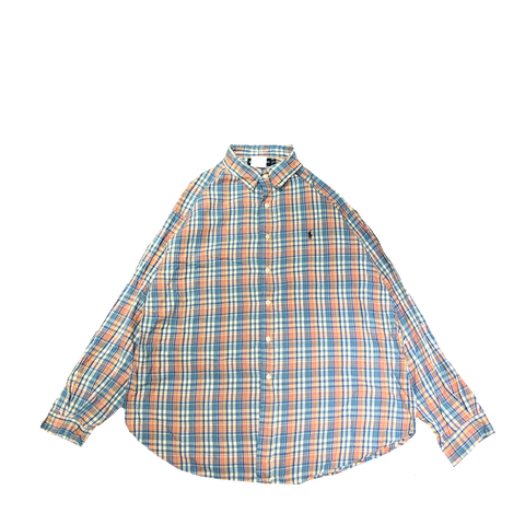 Ralph blue pink check shirts【used】