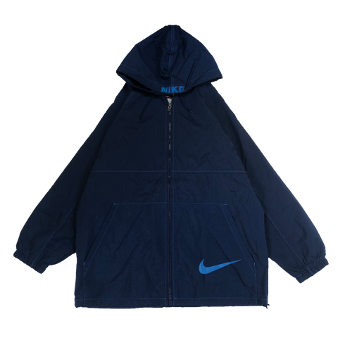 NIKE blue rain coat 【used】