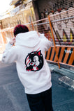 "[10/17(sat)21:00~受注生産] 9090 × Novel Core × Kousuke Shimizu ""Black Cat"" hoodie (white)【original】[発送予定:12月上旬~]"