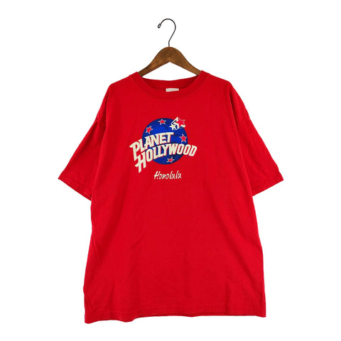 Planet Hollywood red T(Honolulu)【used】