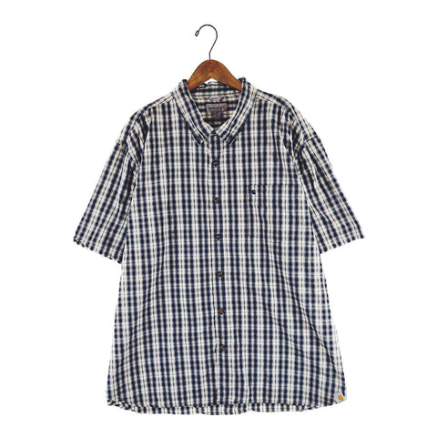 Carhartt navy check shirt【used】