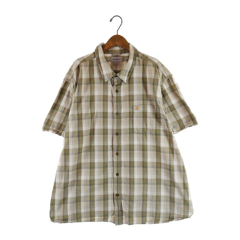 Carhartt beige check shirt【used】