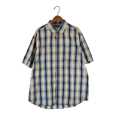 Carhartt blue cream check shirt【used】