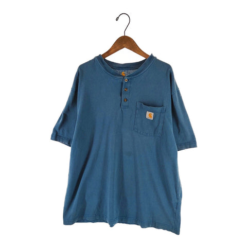 Carhartt dull blue T【used】